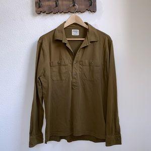 J.Crew   Olive Green Long Sleeve Polo Shirt